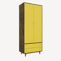 guarda-roupa-2-portas-2-gavetas-com-pes-milao-madeira-amarelo-62608-0