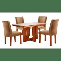 mesa-de-jantar-em-mdf-4-cadeiras-com-tecido-suede-135x90cm-frisa-audace-castanho-off-white-63772-0