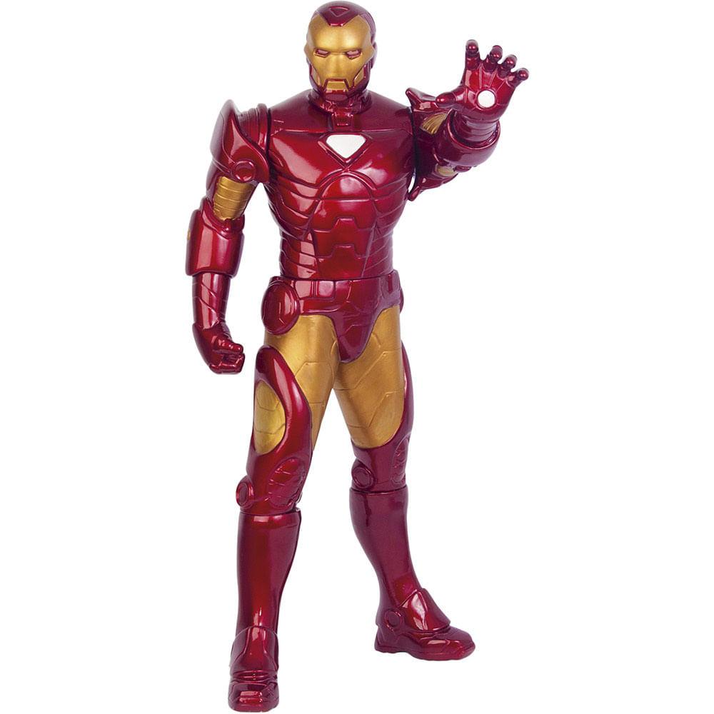 Boneco Homem De Ferro Metalizado Premium Gigante
