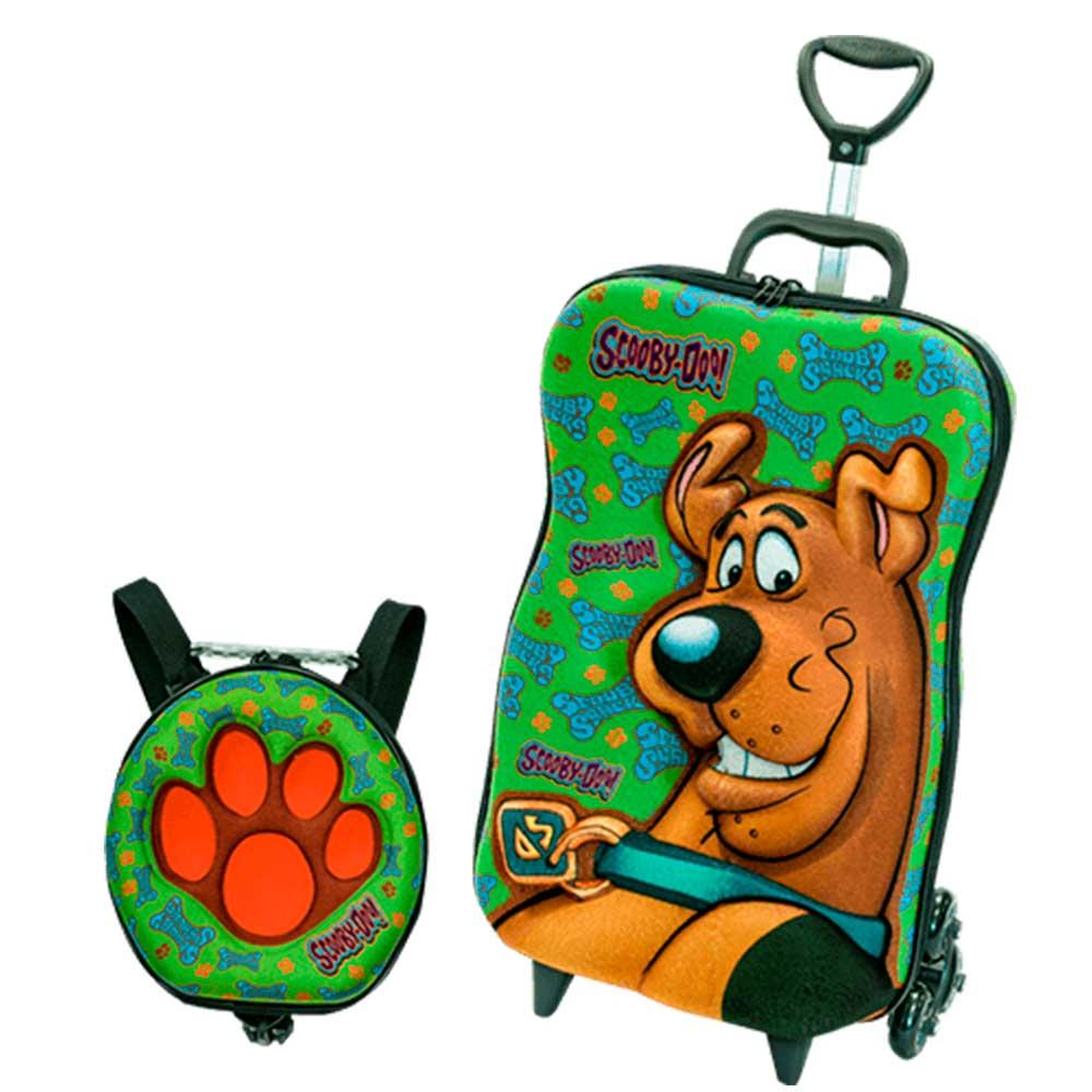 256fb33a4 Scooby Doo Kit Mochila 3D com Rodas + Lancheira - Diplomata - Novo Mundo