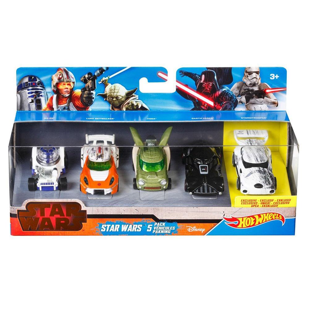3ce9d166c Hot Wheels - Star Wars Pack com 5 Carrinhos - Mattel - Novo Mundo
