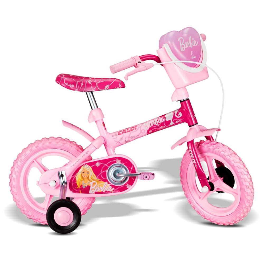 46b42e444 Bicicleta da Barbie Aro 12 Rosa Vivo A11 - Caloi - Novo Mundo
