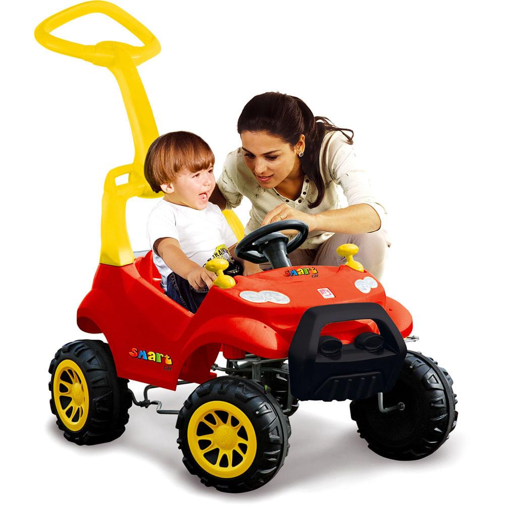 4200fcb766d77 Smart Car Vermelho com Pedal - Bandeirante - Novo Mundo
