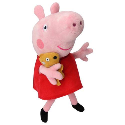 Peppa Pig Pelúcia 25 cm de altura. Atenção: esta pelúcia tem um pequeno  defeito na costura da boca e no olho esquerdo um pontinho branco visível  nas fotos.