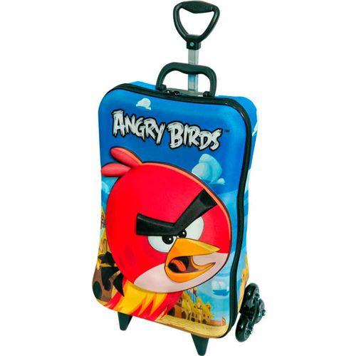 8d4bea11a Angry Birds Mochila 3D Grande com Rodas + Lancheira - Diplomata - Novo Mundo
