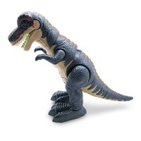DinossauroTiranossauroRexCinzaComLuzeSomToyng