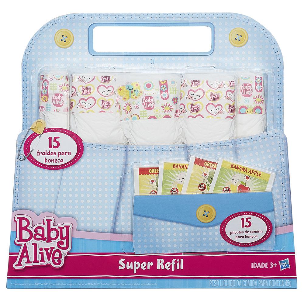 17fb1e7c67 Fraldinha e Comidinha Baby Alive - Hasbro - Novo Mundo