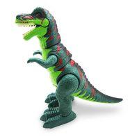 DinossauroTiranossauroRexVerdeComLuzeSomToyng