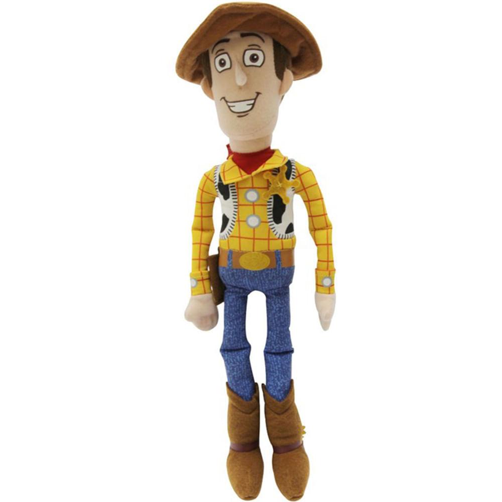 Toy Story Woody Pelúcia 25 cm - Long Jump - Novo Mundo f6bb5bbabc6