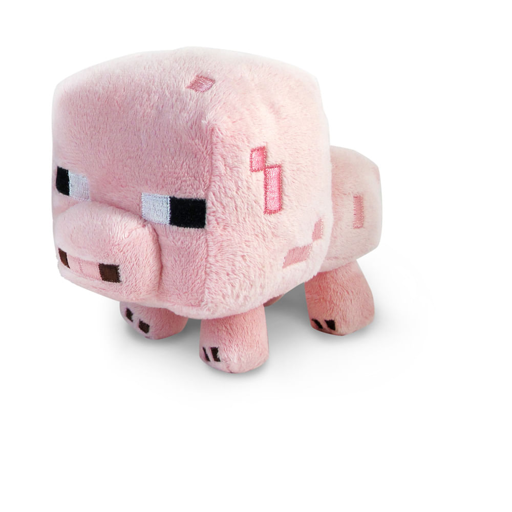 minecraft pelúcia animal porco multikids novo mundo