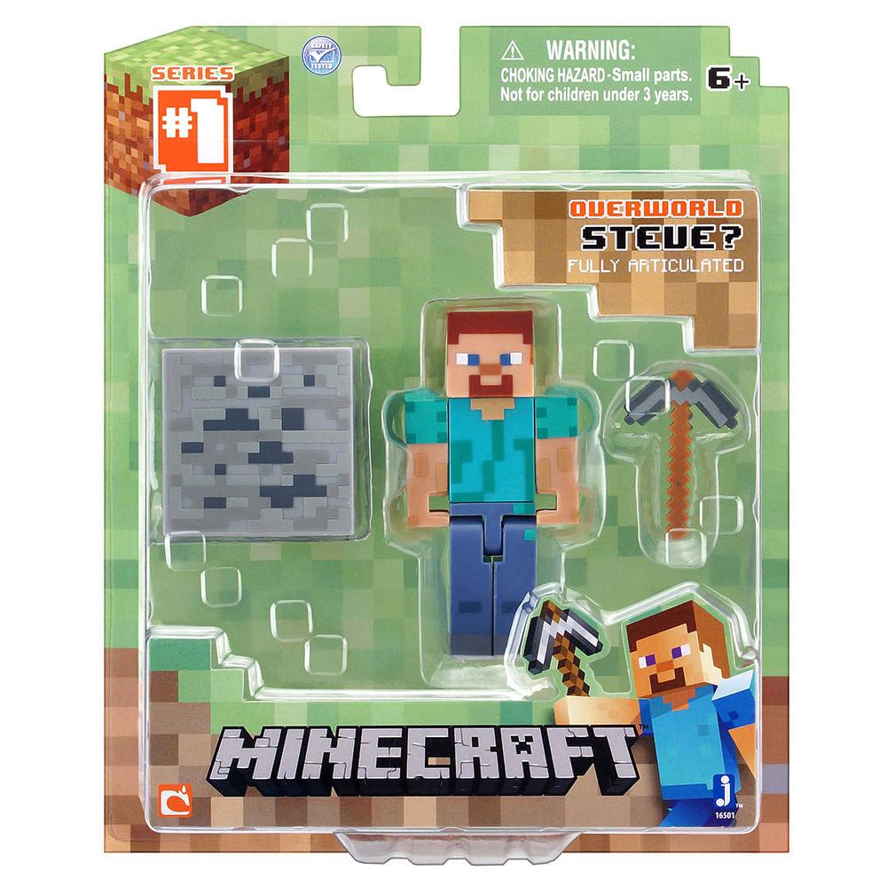 minecraft personagem com acessórios steve multikids novo mundo
