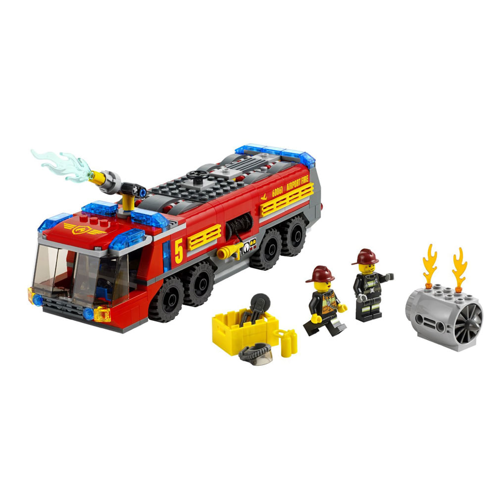 Aeroporto Lego : Lego city caminhão de combate ao fogo no aeroporto lego