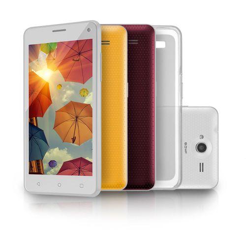 Smartphone Multilaser Ms50 Colors Branco Tela 5 Câmera 5.0 Mp+8.0mp 3g Quad Core 8gb+8gb Android 5.0 Microsd de 8gb - P9002