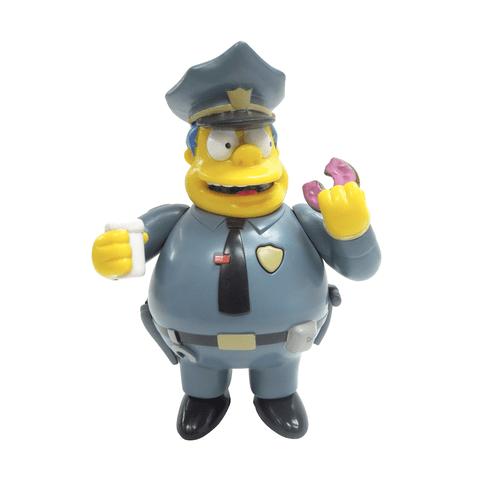 Boneco Chefe Wiggum 15cm Com Som os Simpsons Multikids
