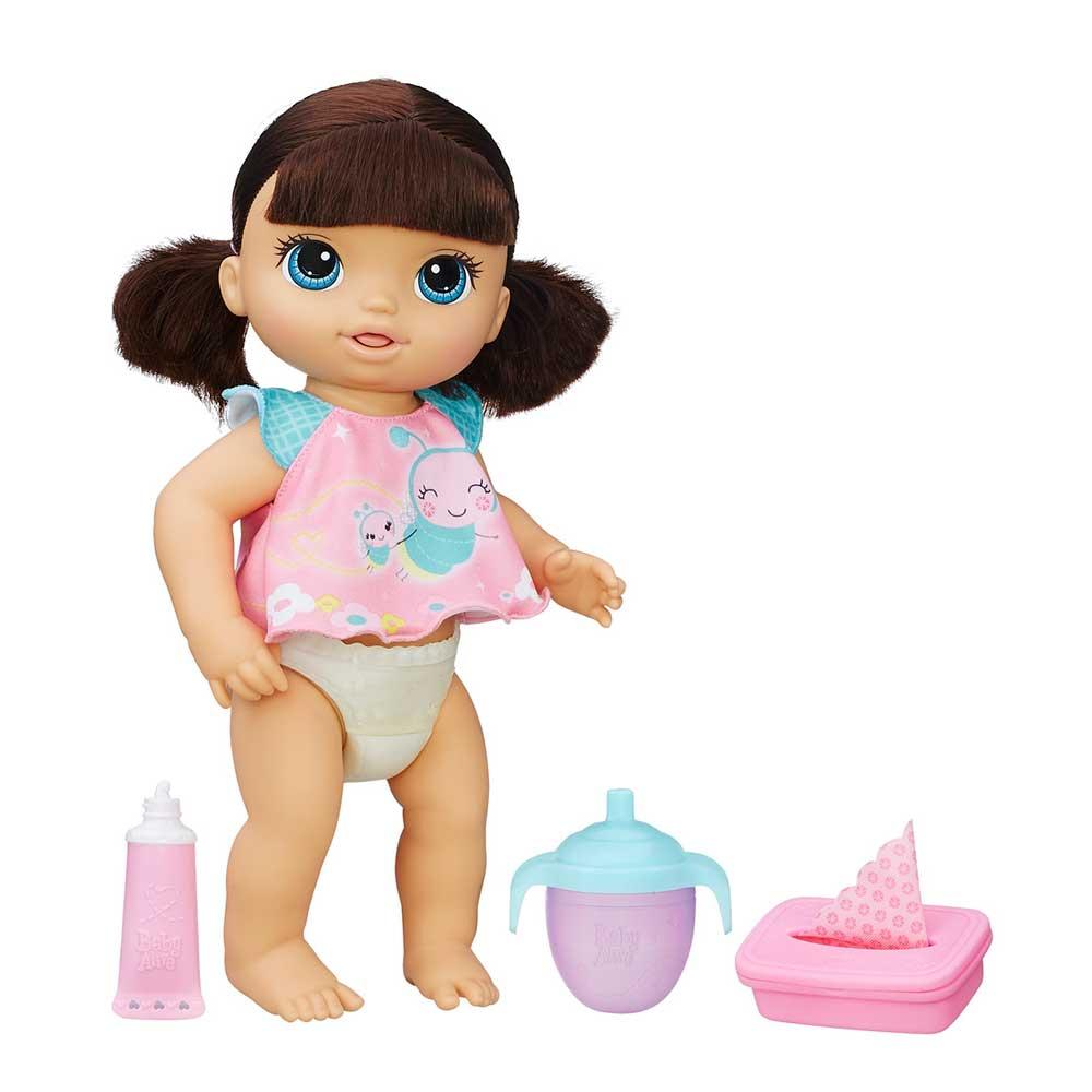 f81fb710ec Boneca Baby Alive Fralda Mágica Morena - Hasbro