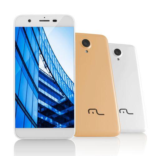 Smartphone Ms50 4g Multilaser Câmera 8 Mp + 5 Mp Quad Core 1gb Ram Branco - P9014