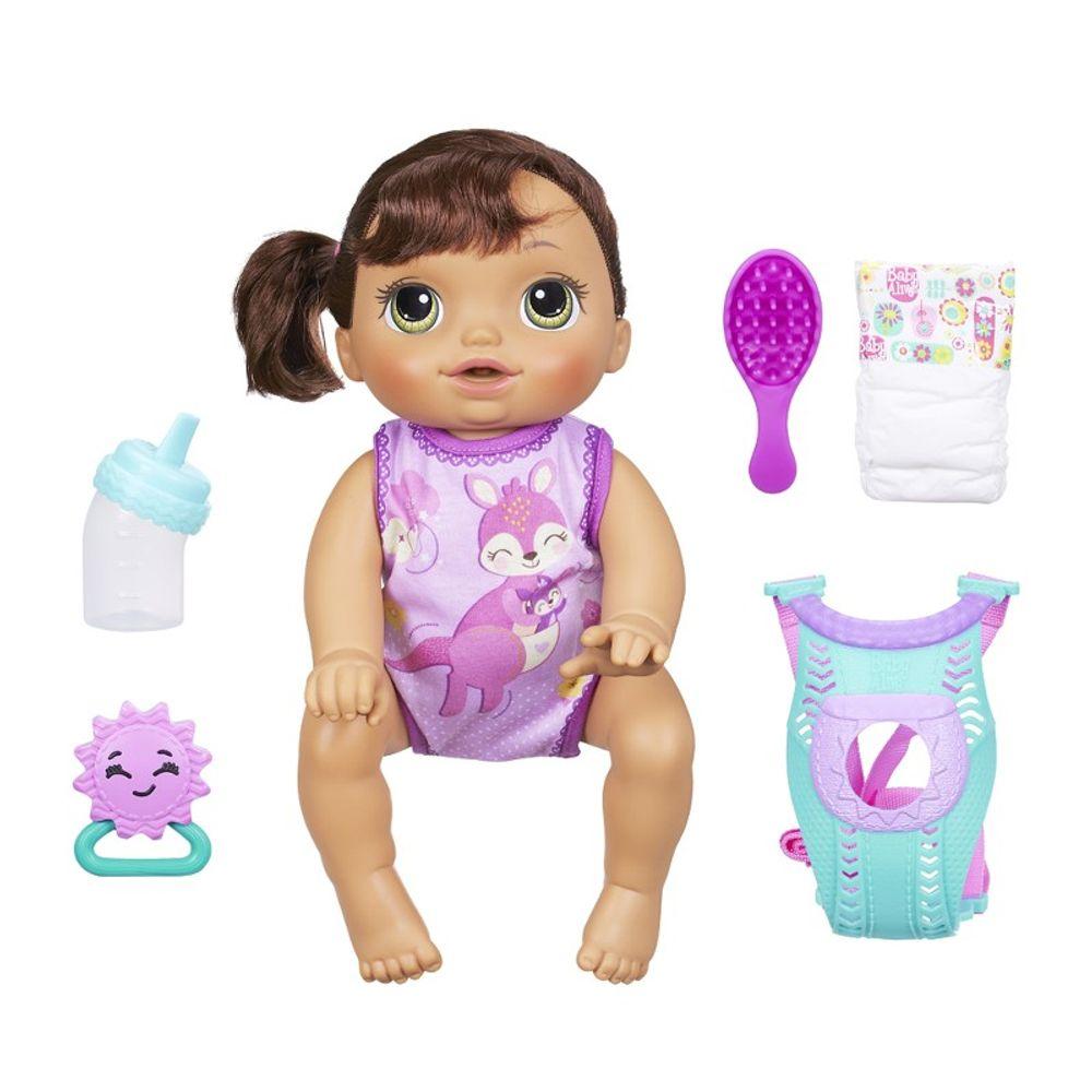 0e3b7df363 Boneca Baby Alive Hora do Passeio Morena - Hasbro - Novo Mundo