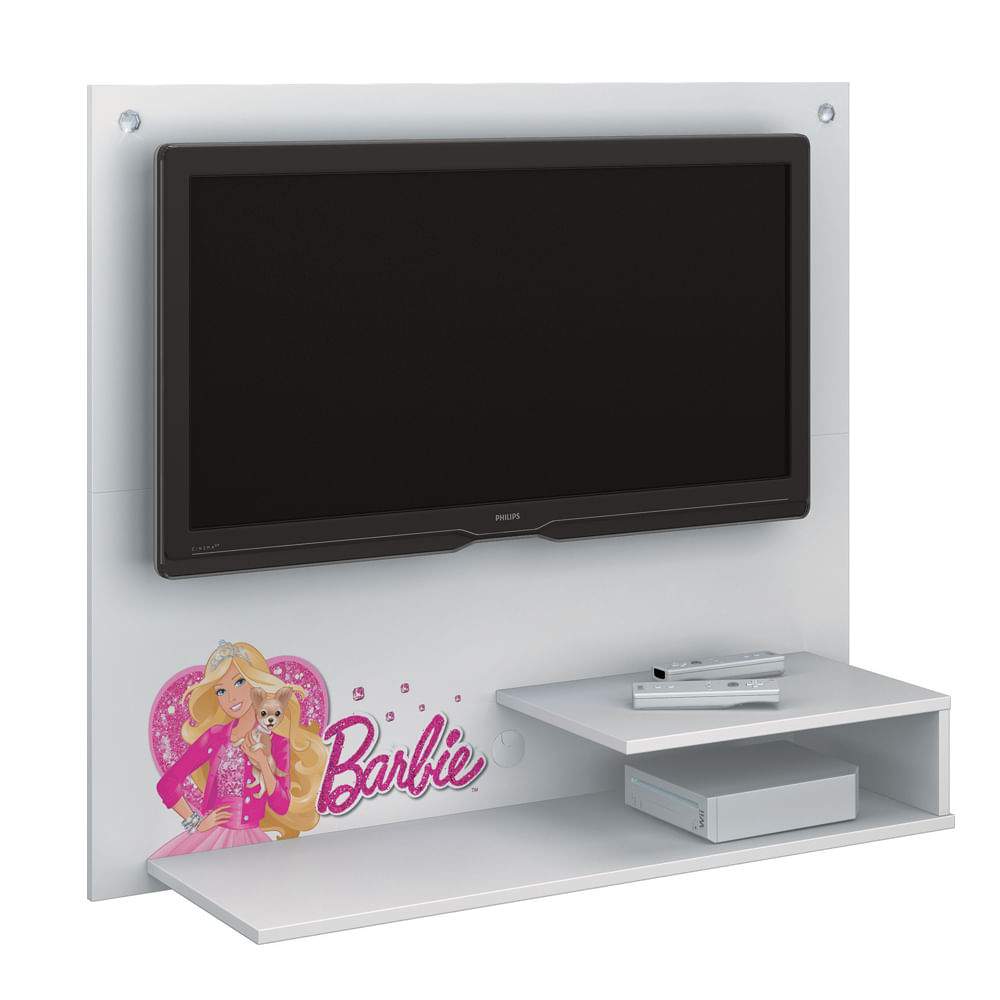 Painel De Tv Barbie Star Para Quarto Infantil At 32 Polegadas  ~ Painel Tv Quarto Bebe Com Altura Da Tv No Quarto