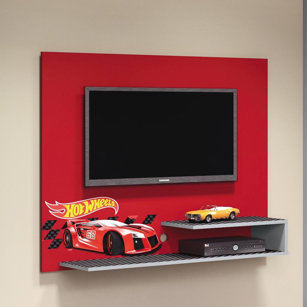 Painel Tv Hot Wheels Para Quarto Infantil At 32 Polegadas  ~ Home Tv Quarto Casal Com Painel Quarto Infantil