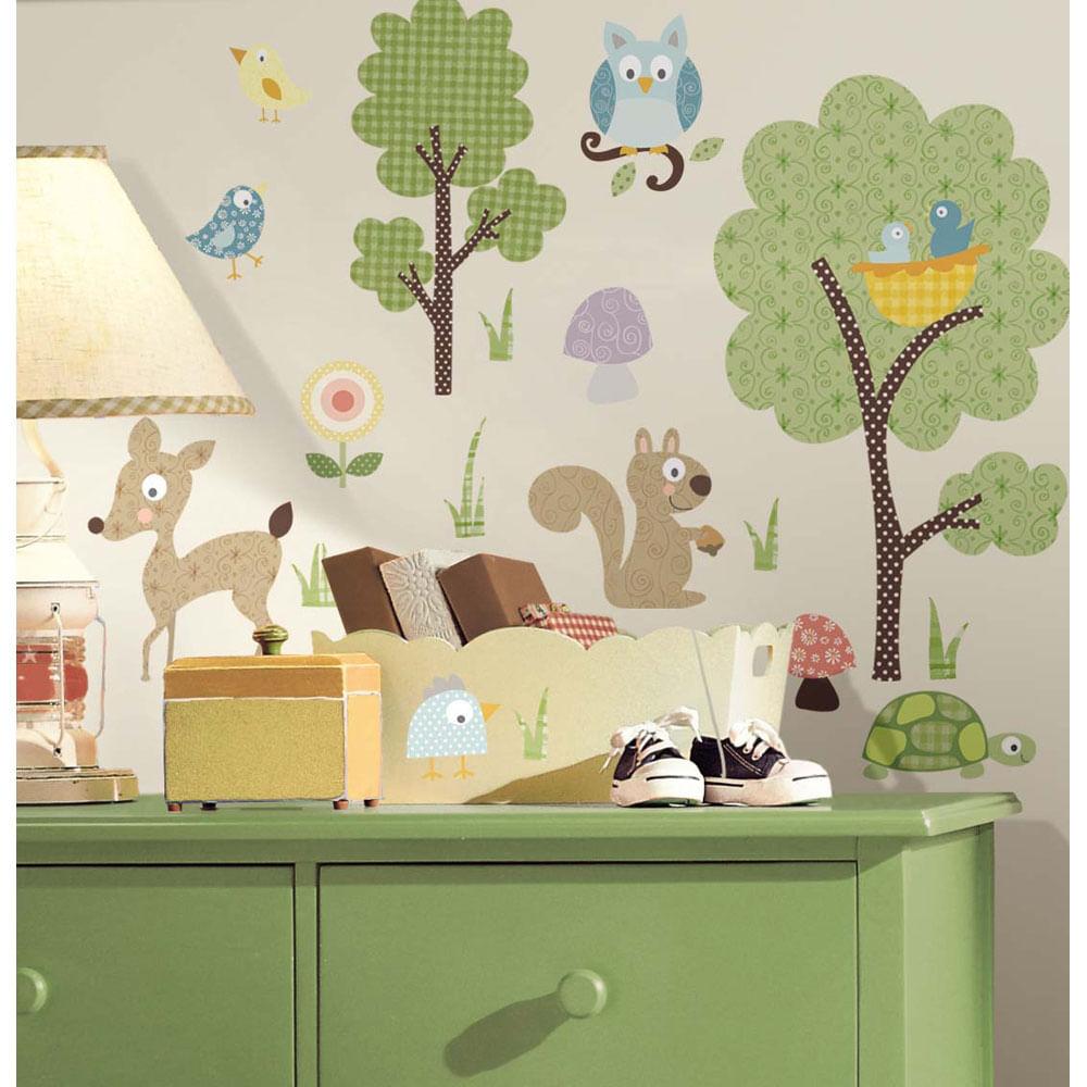 Adesivo Para Quarto De Beb Animais Da Floresta Remov Vel  ~ Decoração De Quarto De Bebe Bichinhos Da Floresta