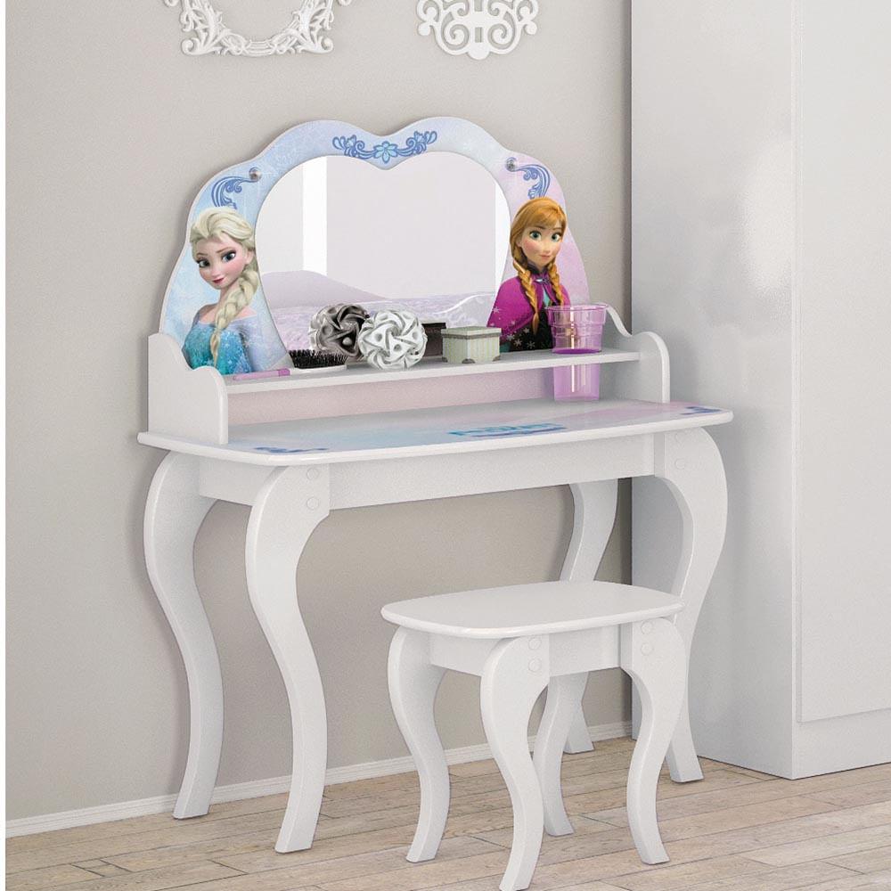 6aa9bf6e25 Penteadeira Infantil Frozen Disney Star com Pedras Decorativas ...
