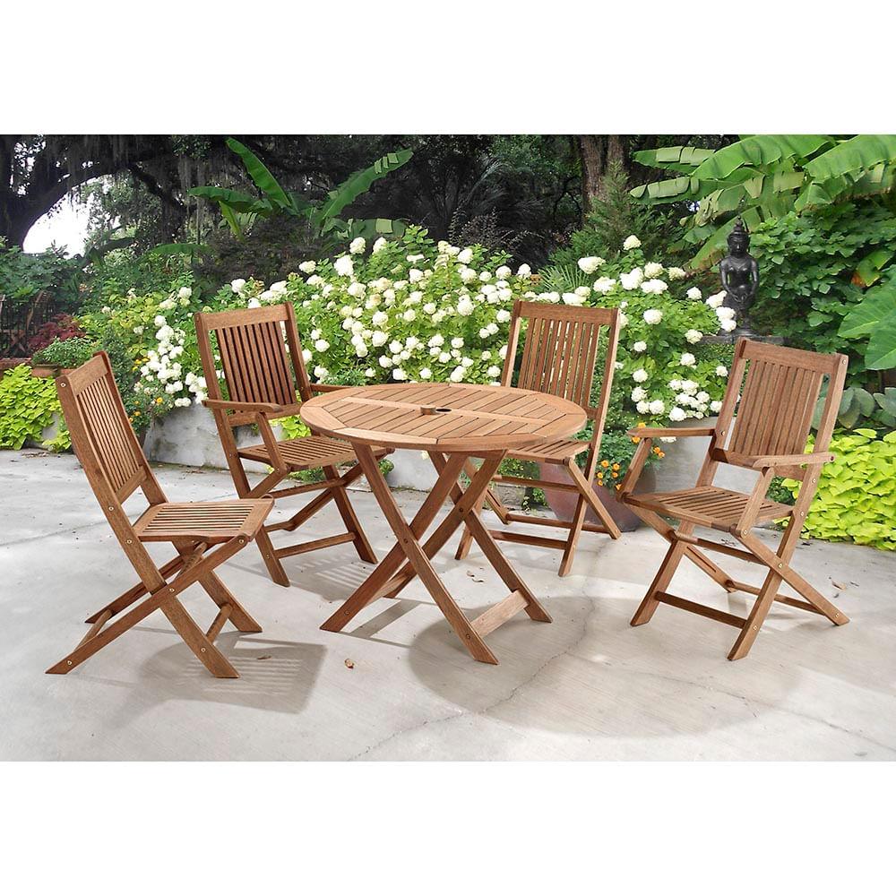 c7e62aff2c9 Mesa Redonda com Cadeiras Dobráveis para Áreas Externas em ...
