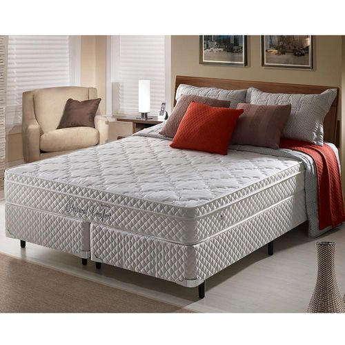 387e730f4 Cama Box Casal Queen Size Soft Comfort Branco c  Sistema Antiácaro ...