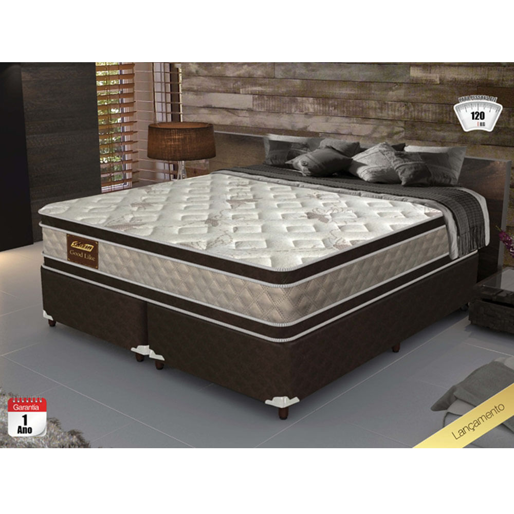 495f95cdd2 Cama Box Queen Size Good Like Molas Ensacadas e Euro Top Duplo ...