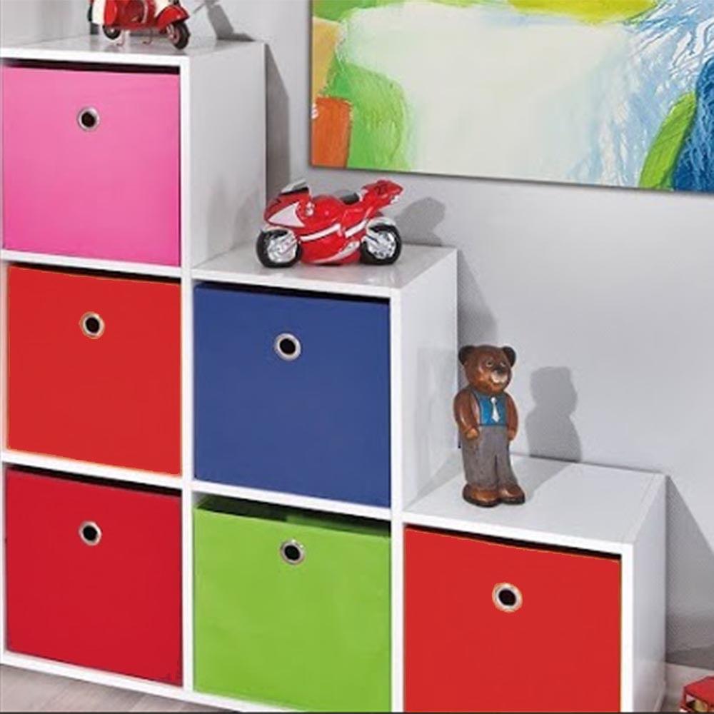 Estante Para Quarto Infantil Com 6 Nichos 6 Caixas Organizadoras  ~ Como Organizar O Quarto Com Nichos