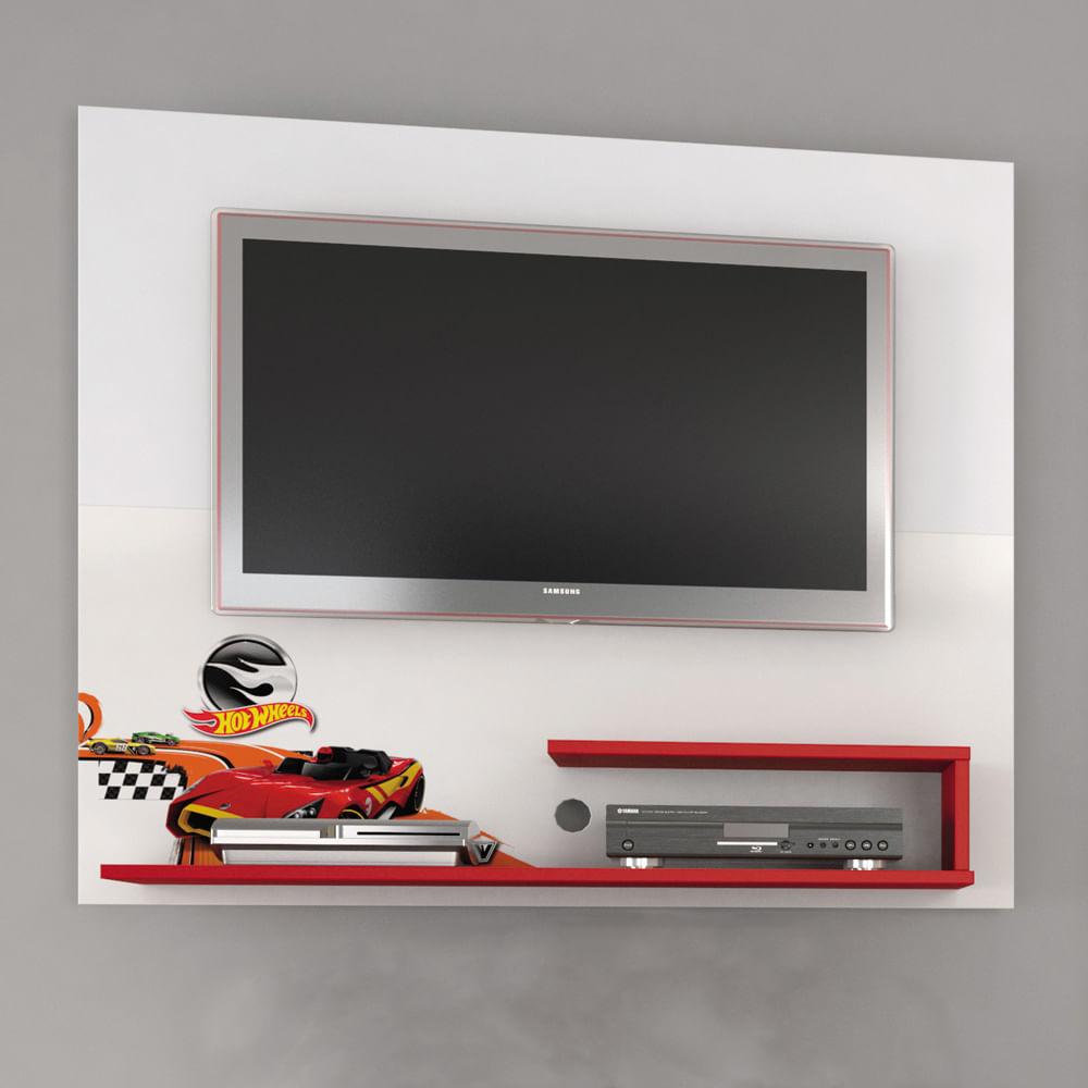 Painel Tv Hot Wheels Star Para Quarto Infantil At 32 Polegadas