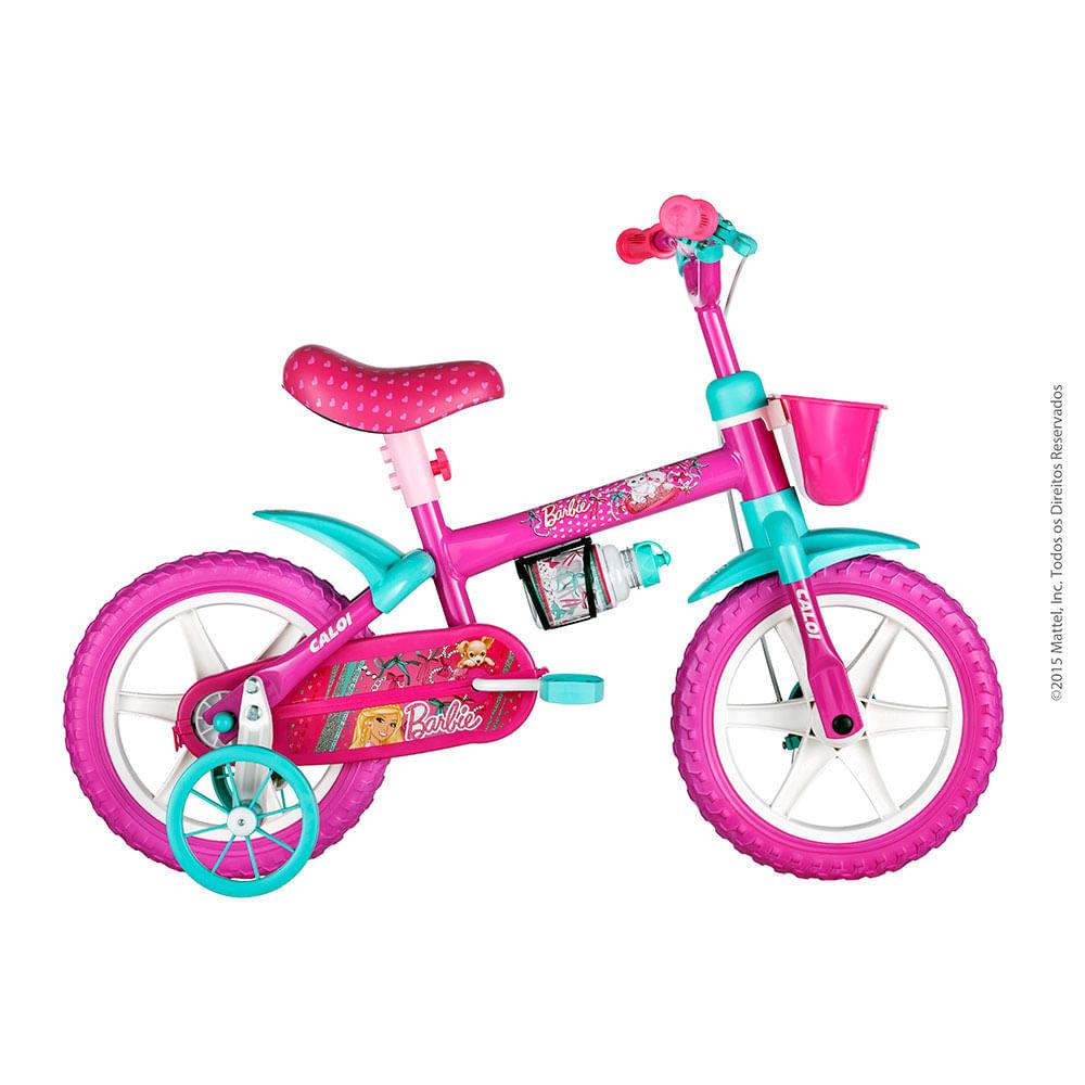 8a3427516 Bicicleta Aro 12 Barbie - Caloi - Novo Mundo