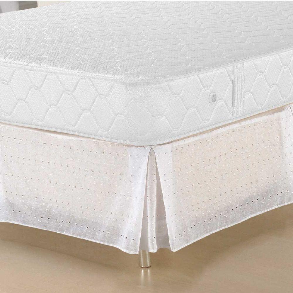 499e5b65f Saia Box Queen Size Lese Branca - Solecasa - Novo Mundo