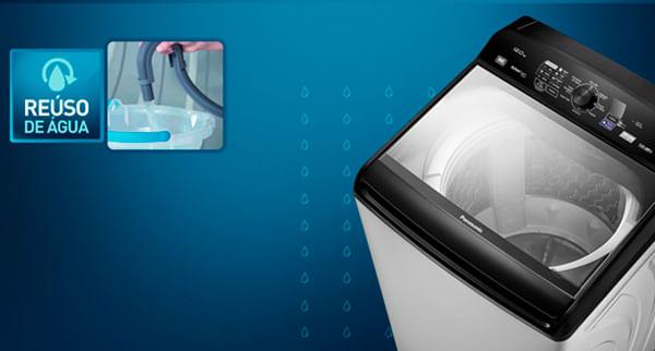Reúso de água Lavadora de roupas Panasonic NA-F120B5G