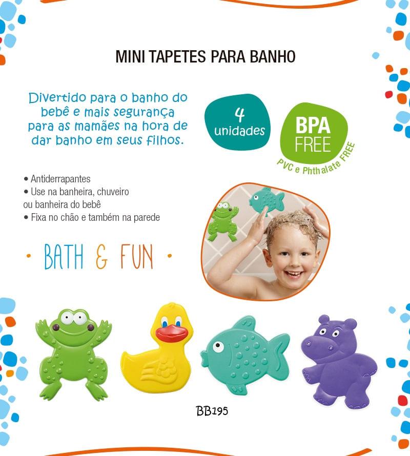 Mini Tapetes para Banho Bath & Fun