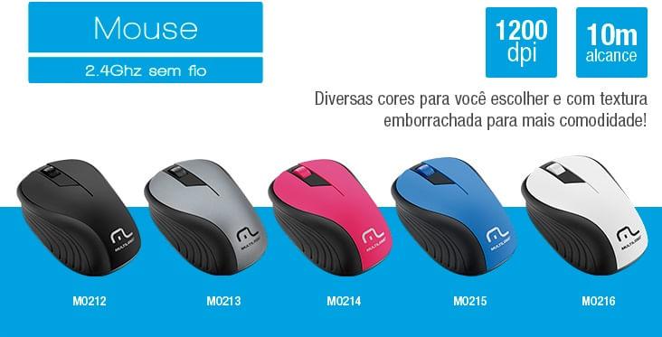 Mouse Multilaser Sem Fio 2.4Ghz Preto USB