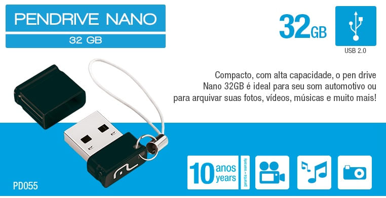 Pendrive Multilaser Nano - 32GB - PD055
