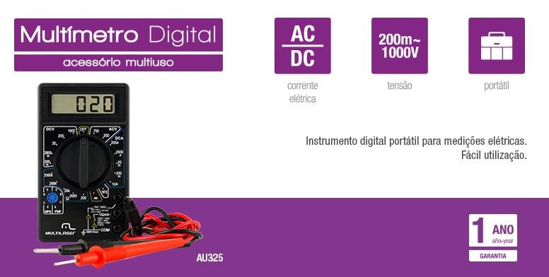 Multímetro Digital Multilaser Preto
