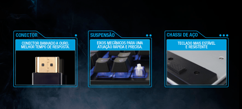 Diferenciais Teclado Gamer Professional Sensibilidade Mecanica