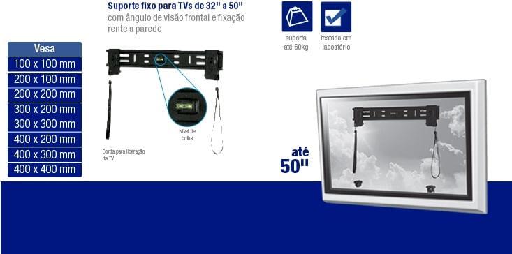 Suporte Plano para TV LED e LCD de 32 Até 50