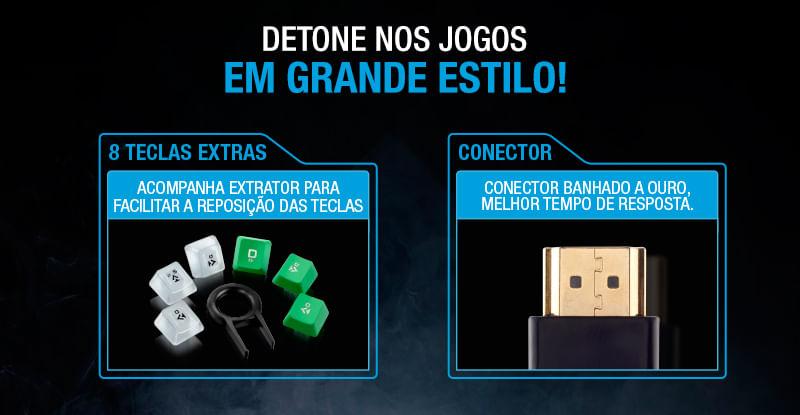 Teclado Profissional USB Gamer Multilaser