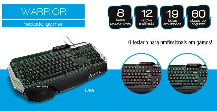 Teclado Multilaser Profissional Gamer com LED USB
