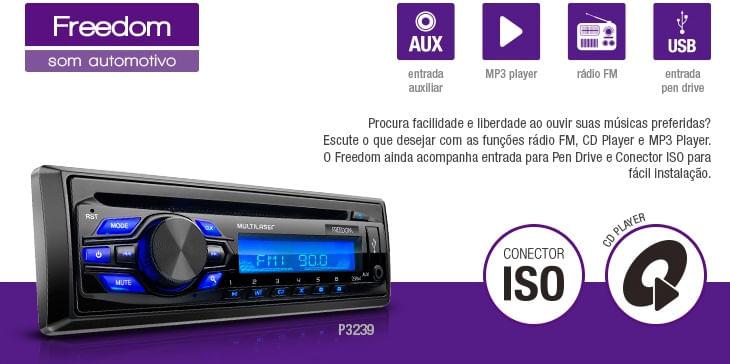Som Automotivo MP3 Player Multilaser