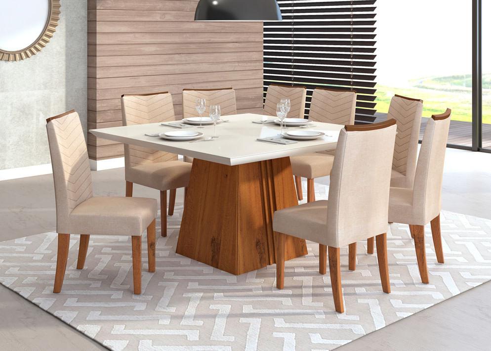 Mesa de Jantar 8 cadeiras serenas - Dj móveis Itália