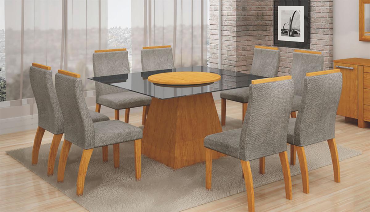 Mesa de Jantar Grécia Com Prato Giratório - Leifer Móveis
