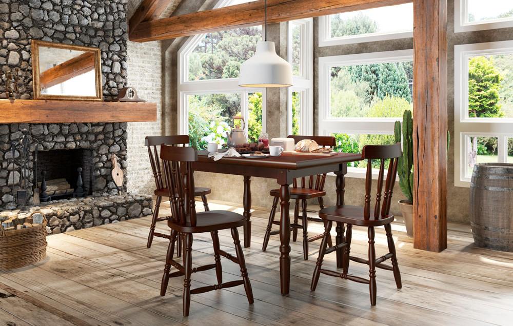 Mesa lile madeira macica ambiente