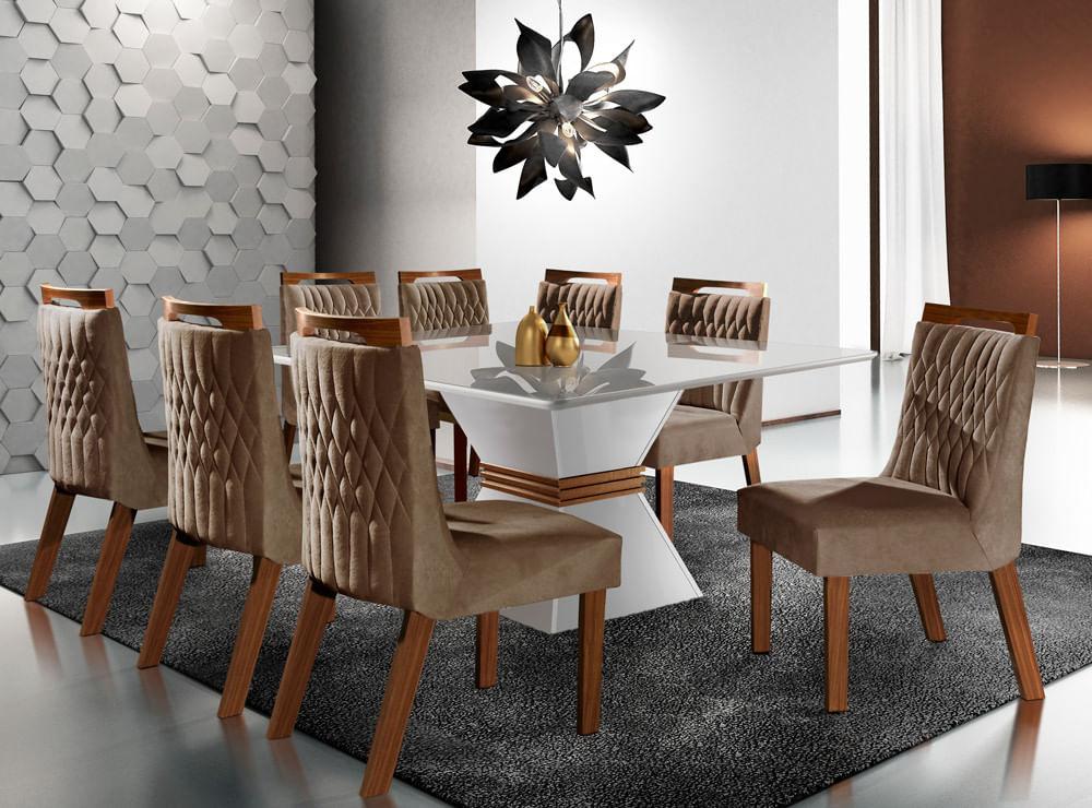 Mesa de Jantar em MDF Lj Móveis Cronos