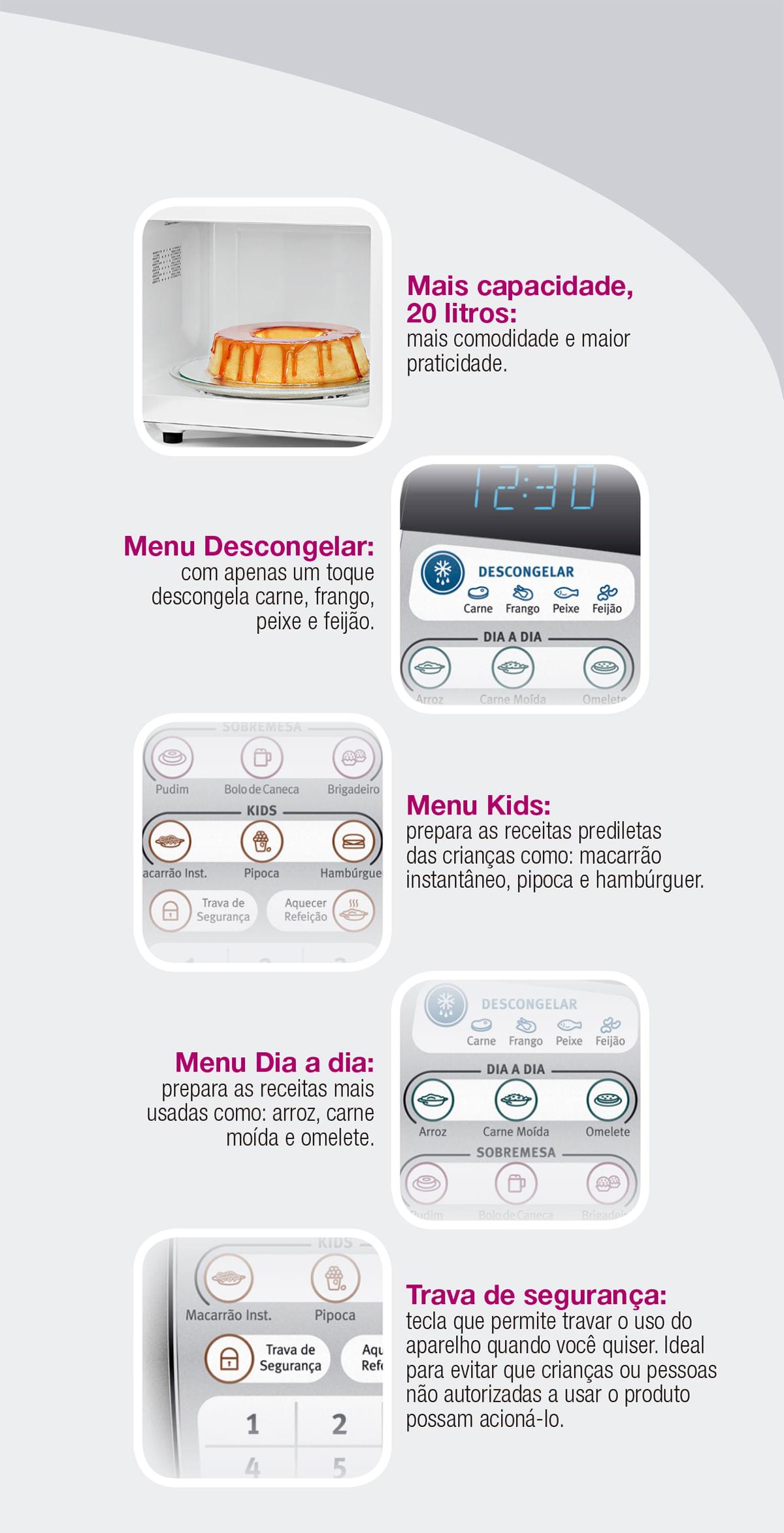 Micro-ondas Painel Seguro MTD30