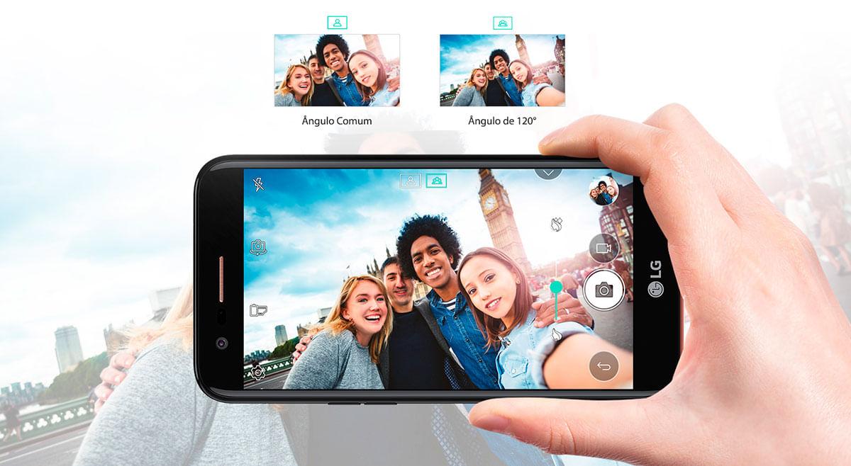 Câmera frontal - LG K10 Novo