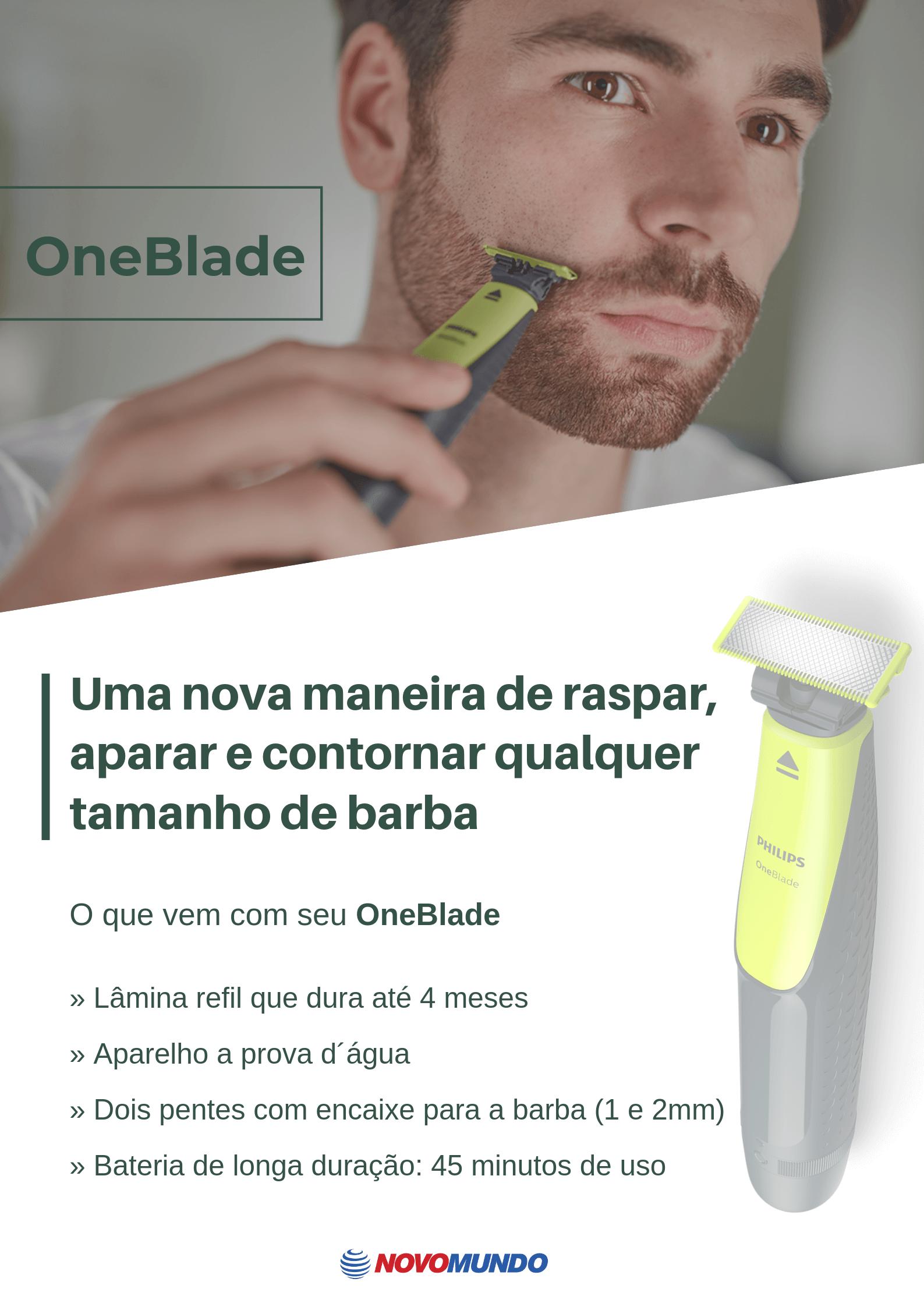 One Blade Philips Walita, Verde / Chumbo - QP2510/10