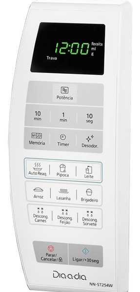 Painel Micro-ondas Panasonic de 21 litros